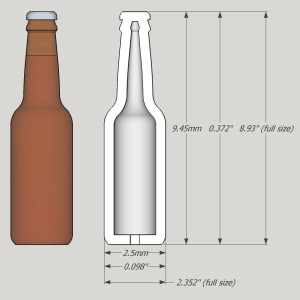 1:24 Beer/Soda Bottles - Ver2