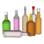 O scale Liquor Bottles